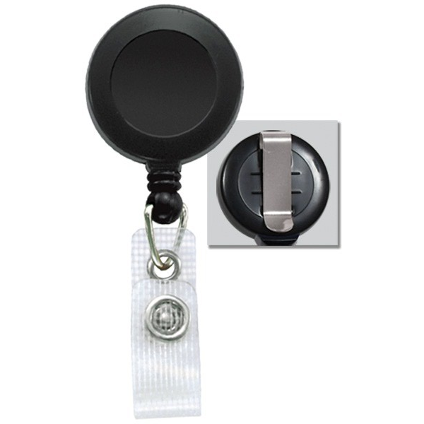 Custom black badge reels 100-pack
