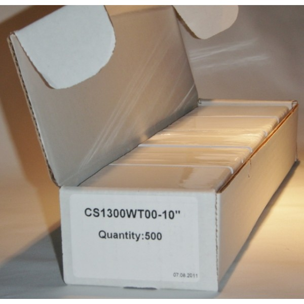 PVC card CR80-30 mil white p/p - box of 500 cards