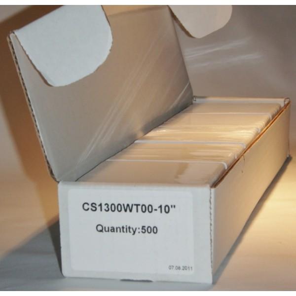 PVC card CR80-30 mil white p/p - box of 500 cards