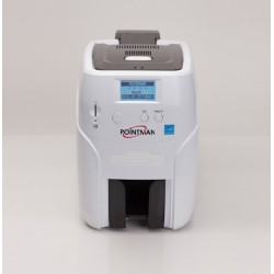 Nuvia N25 card printer: Single hopper,Dual sided batch printing with  manual feeder and card stacker
