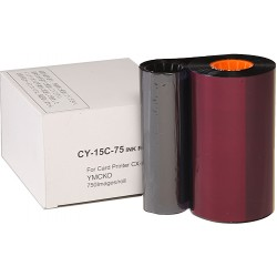 Ribbon YMCKO 750 images Secumind CX120 DTC