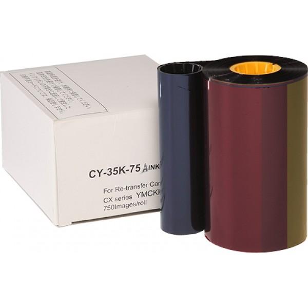 Ribbon retransfer YMCKK 750 images Secumind II CX320/330/7000