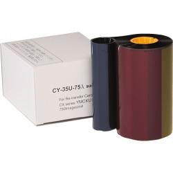 Ribbon retransfer YMCKUv 750 images Secumind II CX320/330/7000